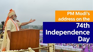 PM Modi addresses the Nation on the 74th Independence Day from Red Fort, Delhi | PMO