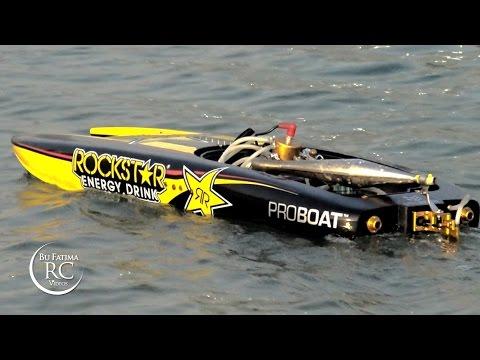 Pro Boat Rockstar RTR 48-inch Gas Powered Catamaran طراد روك ستار جازولين