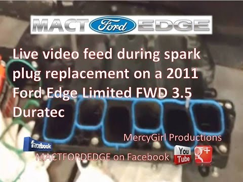 When To Change Spark Plugs >> Live feed while changing spark plugs on 2011 Ford Edge 3 5 ...