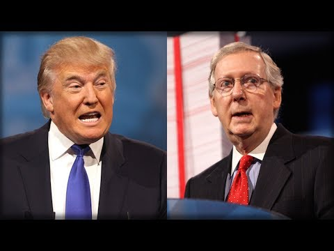PRESIDENT TRUMP JUST WALKED OUT TO REPORTERS AND GAVE MITCH MCCONNELL CAREER ENDING ULTIMATUM