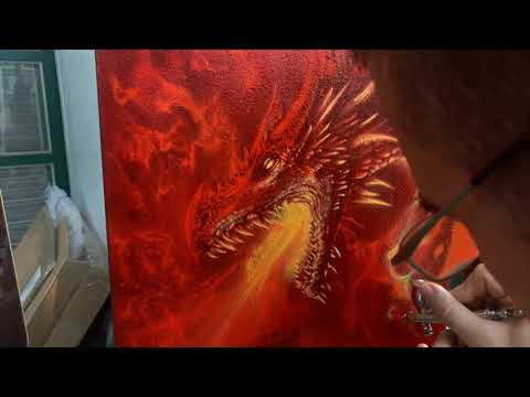 How to airbrush Game of Thrones Dragon