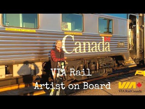 Across Canada By Train (VIA Rail Artist On Board)