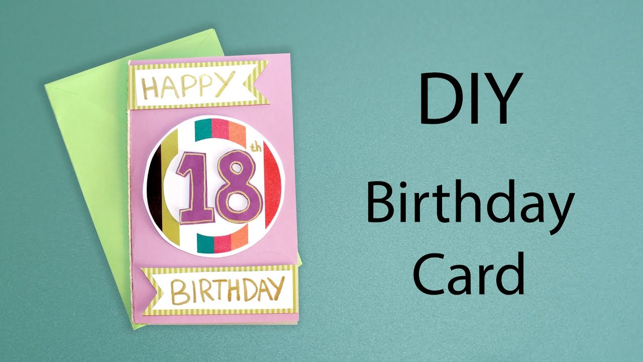 Diy 18th birthday card craft with me youtube diy 18th birthday card craft with me bookmarktalkfo Images