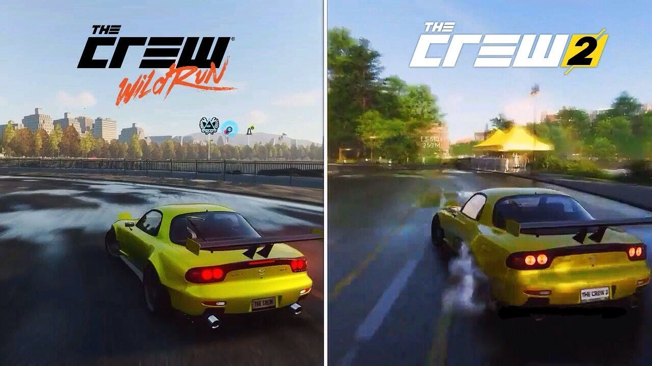 the crew wild run vs the crew 2 early graphics sound. Black Bedroom Furniture Sets. Home Design Ideas