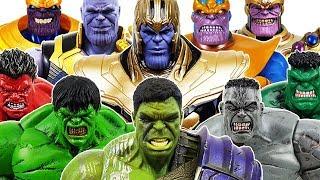 Hulk Army vs Thanos Battle! Avengers, Spider-Man, Iron Man, Hulk, Thor, Captain America