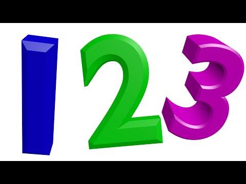 123 Lernen Kinder Ziffern Zahlen DEUTSCH