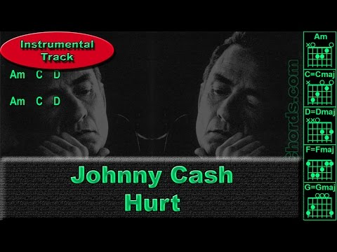 Johnny Cash - Hurt - Instrumental - Guitar Chords (0012-B1)