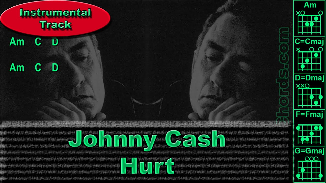 Johnny Cash Hurt Instrumental Guitar Chords 0012 B1 Youtube
