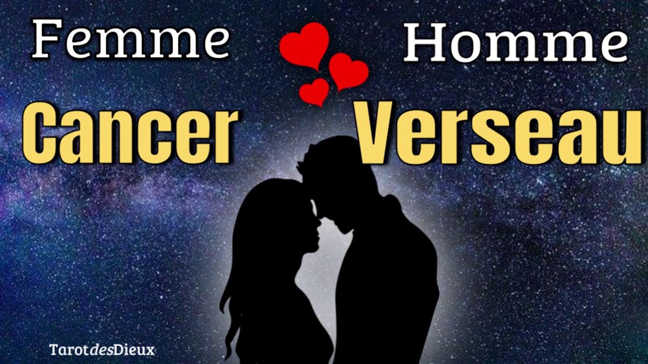 Compatibilité Verseau Taureau l'amour Éphémère entre la femme cancer et l'homme verseau