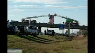 Fallen Bryan Texas Firefighter Lt. Gregory Pickard returns to his home
