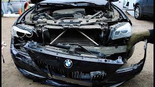 Бэха пятерка (BMW F10). Морда в хлам! Работа эксперта-оценщика.