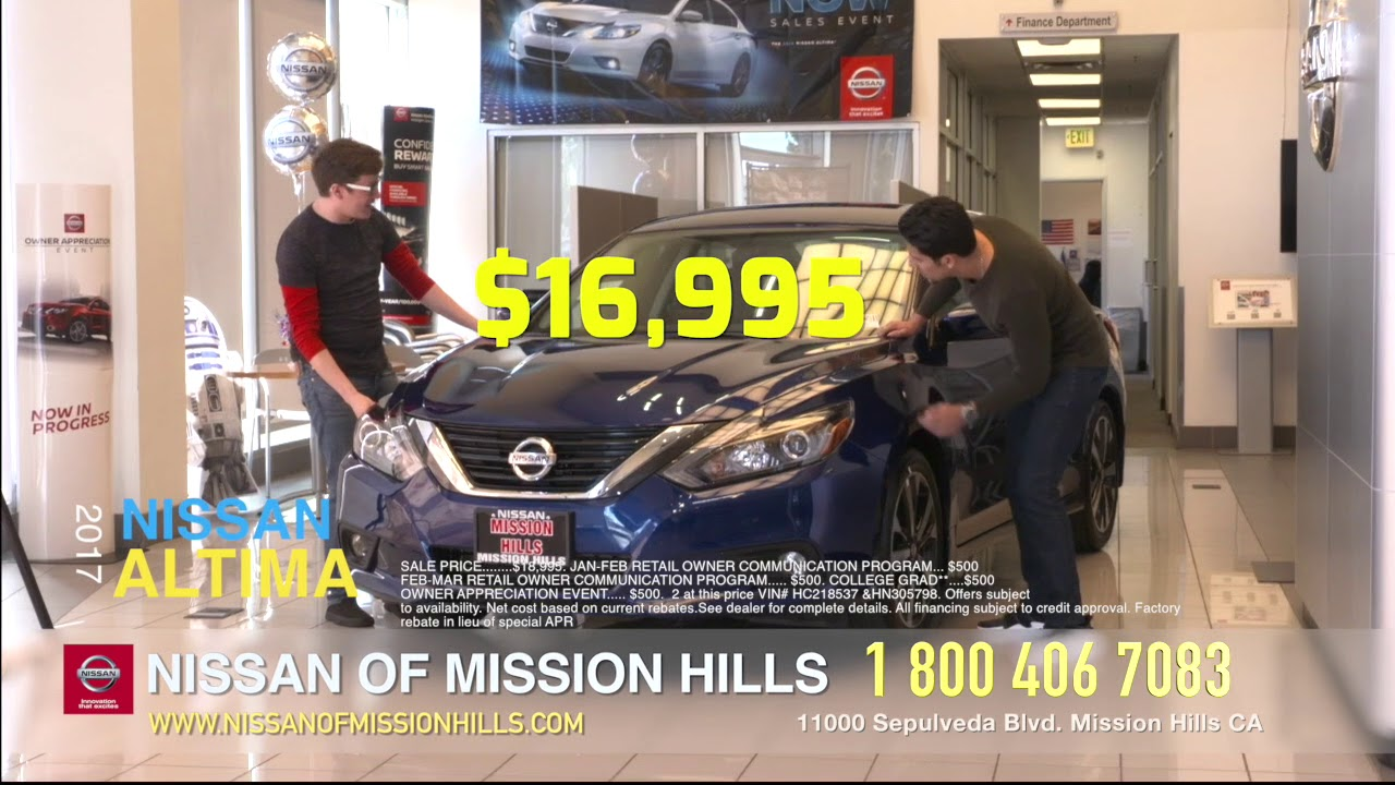 Nissan Of Mission Hills English Spot MARCH