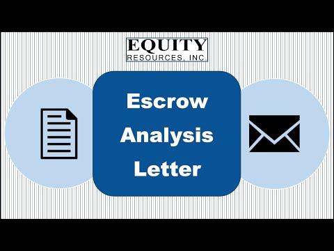 Escrow Analysis Letter