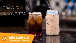 Cách làm Trà sữa - Hồng trà - Thạch rau câu ngon đơn giản | Học pha chế