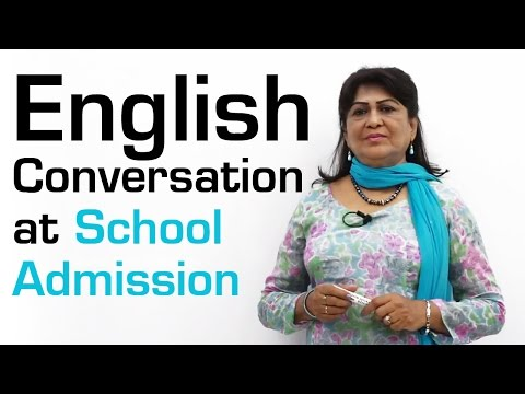 English  Conversation  at School Admission || Conversation A