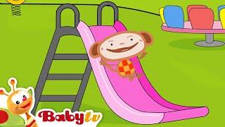 Playground Slides with Oliver - Slides for Kids | BabyTV