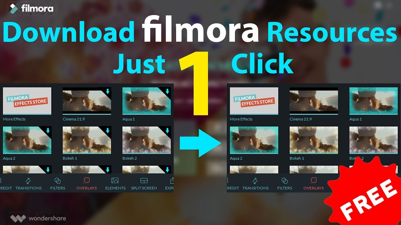How To Download All Filmora Resources at Once | Wondershare Filmora  Resource 8 7 Pack