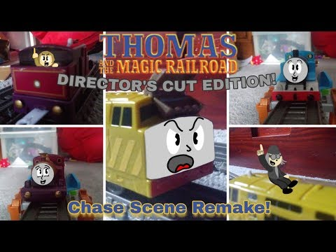 Thomas And The Magic Railroad | P.T. Boomer Chase Scene Remake! (Trackmaster, TOMY, Plarail)