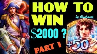 ★HOW I WIN $2000?★ NAPOLEON & JOSEPHINE slot machine 7 BONUS WINS- PART 1