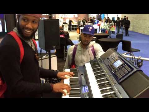 Cory Henry visits Casio at NAMM