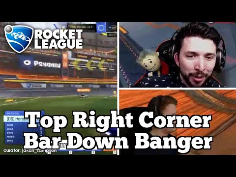 OMG Rocket League Moments: Top Right Corner Bar Down Banger thumbnail
