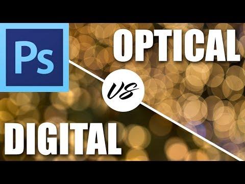 Optical bokeh vs digital bokeh