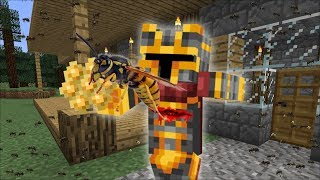 GIANT WASP APPEARS IN OUR MINECRAFT HOUSE FOR SURVIVAL!! STAY ALIVE IN MINECRAFT!! Minecraft Mods