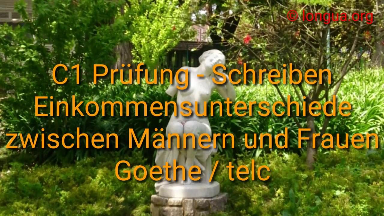 C1 Prüfung Schreiben Goethe Institut Einkommensunterschied