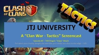 Clash of Clans -- Clan War Tactics -- TH8 -- Dragon Snipe Attack Style