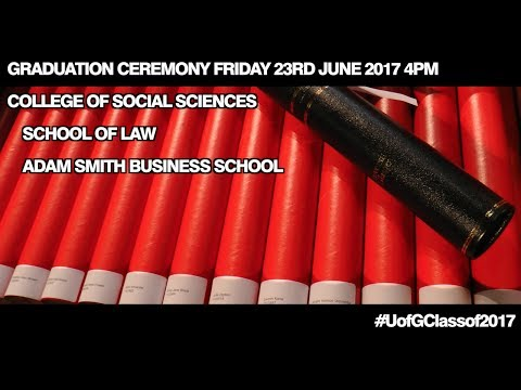 College of Social Sciences Graduation Procession, Friday 23rd June 4pm 2017