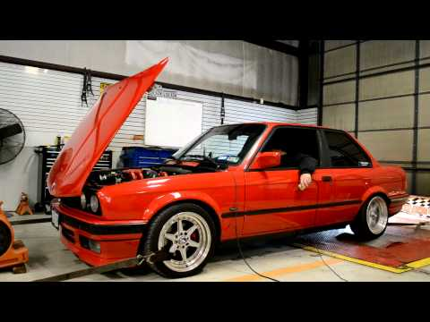 M42 Turbo 10psi E30 318is BMW Dyno Pull 3