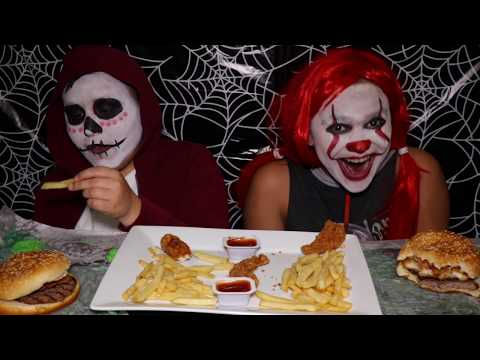 Burger King Mukbang Nightmare King, Chicken Tenders, Black Cherry Icee