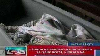 NTL: 2 sunog na bangkay na natagpuan sa isang kotse sa Batangas, kinilala na