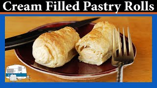 Cream Filled Pastry Rolls - White Trash Cooking