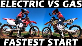 Video Electric Vs Gas Dirt Bike - Best Start / Holeshot! download MP3, 3GP, MP4, WEBM, AVI, FLV Februari 2018