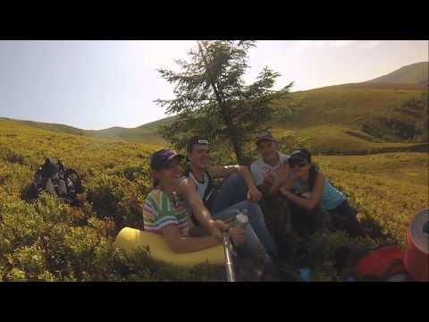 GoPro hiking in Carpathians mountain