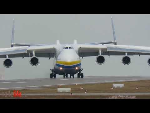 Antonov AN-225 - Landing + Takeoff at Leipzig/Halle Airport 03. / 04.04.2018 Leipzig