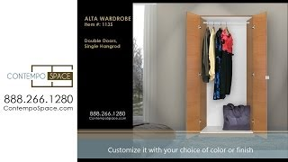 Alta Wardrobe Closet - Double Doors, Single Hangrod | Item #: 1135