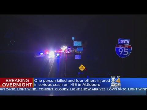 One Dead, Four Hurt In I-95 Two Car Crash In Attleboro