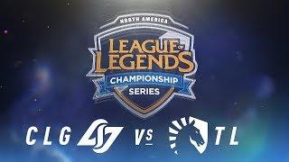 Video CLG vs. TL - Week 5 Day 1 | NA LCS Spring Split | Counter Logic Gaming vs. Team Liquid (2018) download MP3, 3GP, MP4, WEBM, AVI, FLV Juni 2018