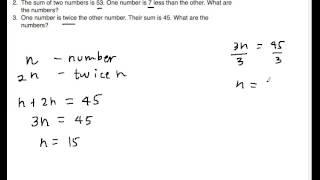 Word Problem Number Problem 3
