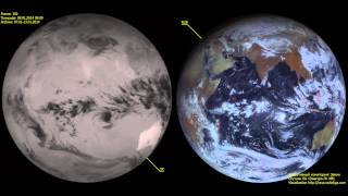 Real-time monitoring of the Earth in the simultaneous observation mode