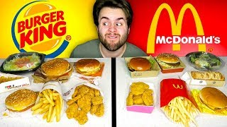 McDONALD'S vs. BURGER KING - Fast Food Restaurant Taste Test!
