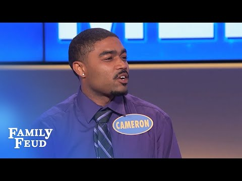 When my wife is out of town, I sleep with her... | Family Feud