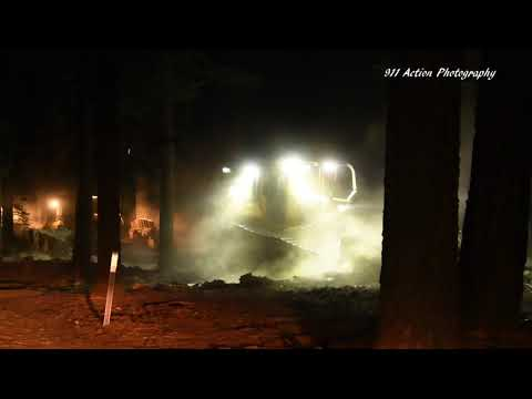 Dozer Crews On The Dixie Fire Construct and Reinforce Fire Lines Along Highway 36 Overnight.