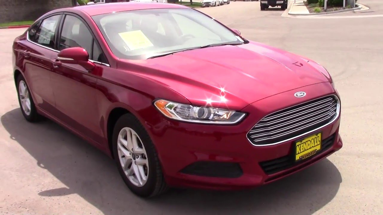 2016 Ford Fusion Se With Tech Package Product Demonstration