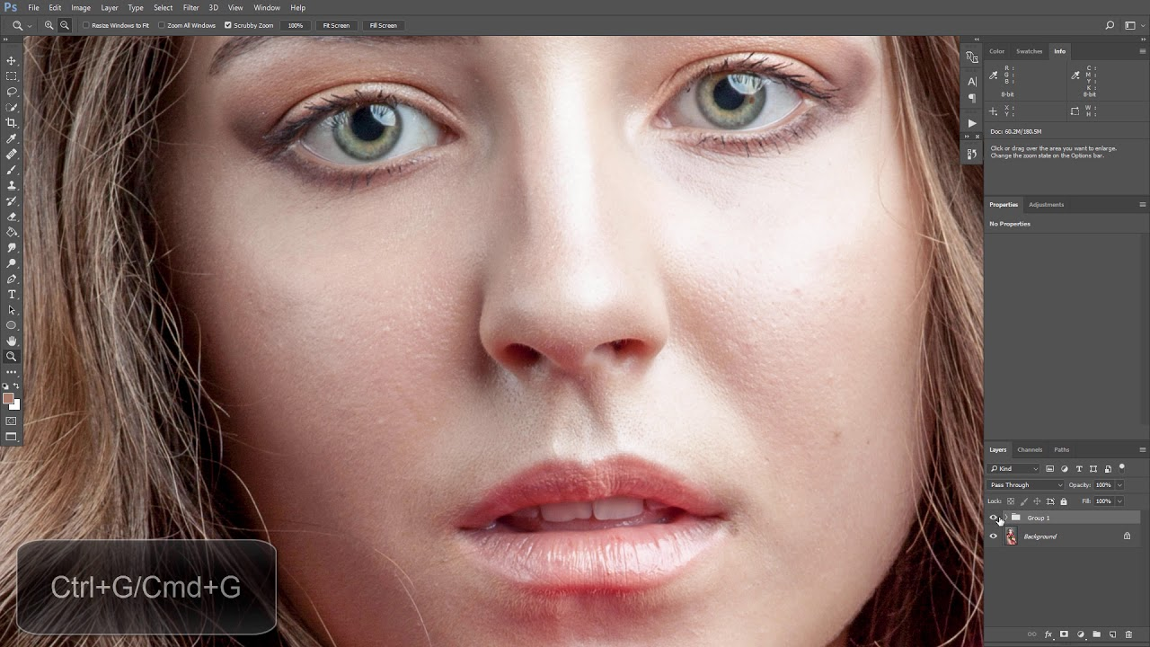 Lesson: High-End Skin Retouching with Frequency Separation