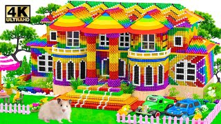 Satisfying Relaxing With Maġnet Balls | How To Make Mega Mansion Has Rainbow Roof ASMR Magnet Balls