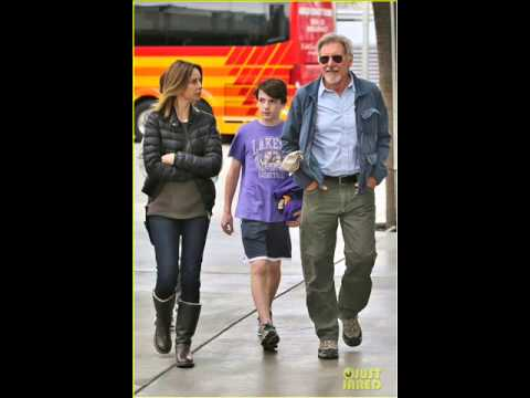 Don Ford Lakers >> Harrison Ford & Calista Flockhart: Lakers Game with Son Liam! - YouTube