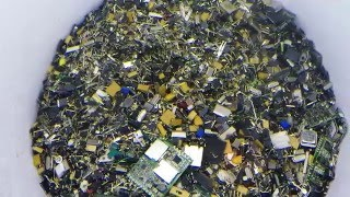 How I sort Gold, Palladium, Silver and Precious Metals after depopulating circuit boards